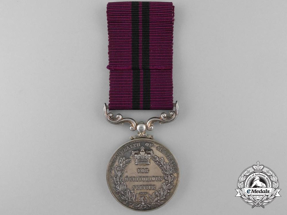 Australia. A 1961 Meritorious Service Medal, 1961