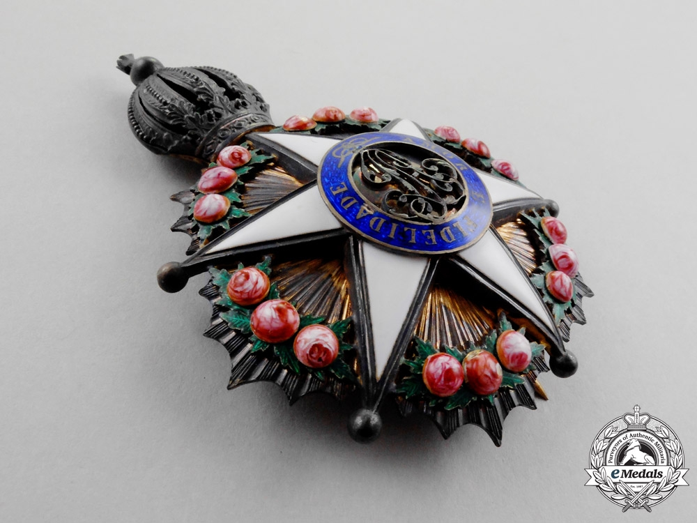 Brazil. A French Made Order of the Rose, Grand Dignitary Breast Star