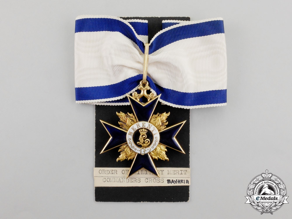 Bavaria. An Order of Military Merit Commander's Cross Second Class in Gold