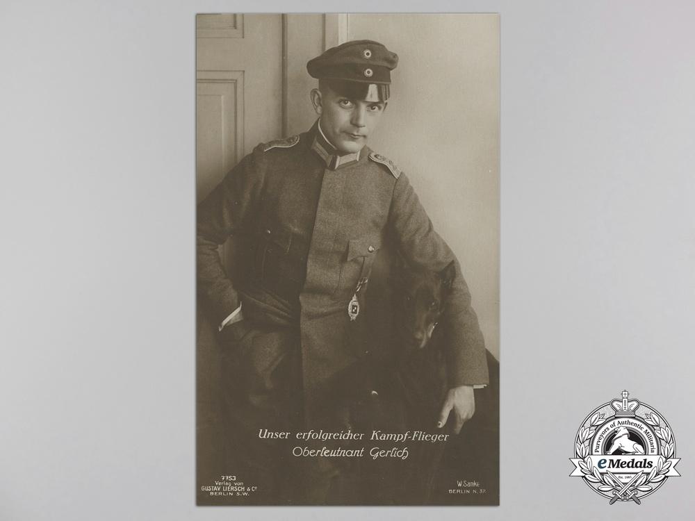 Six First War German Imperial Airmen Postcards; Pour-le-Merite Recipients