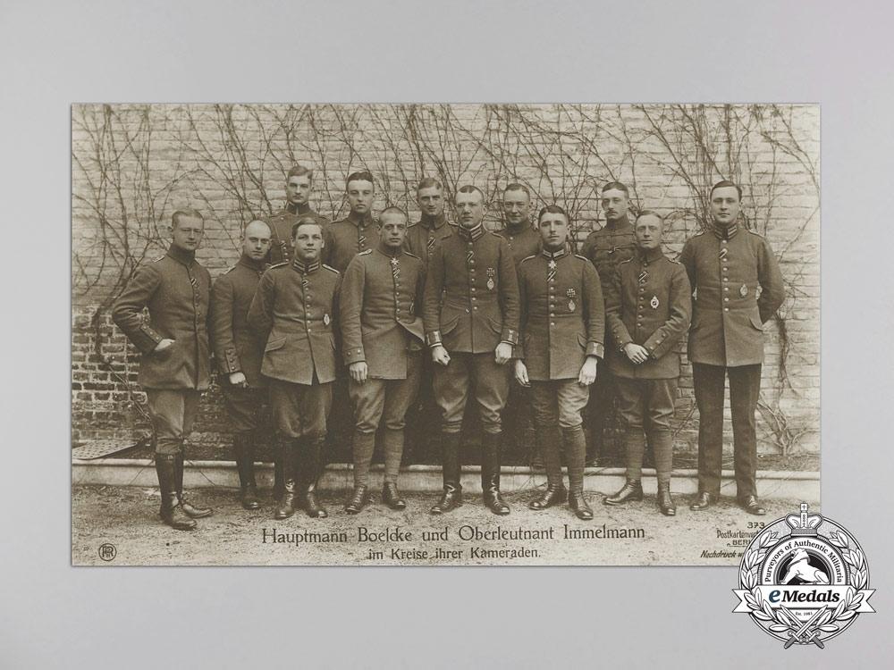 Four First War German Imperial Airmen Postcards