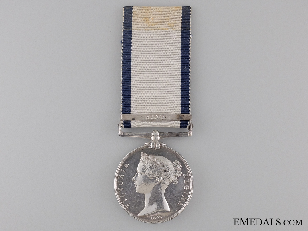 A Naval General Service Medal to John Bristow for Java