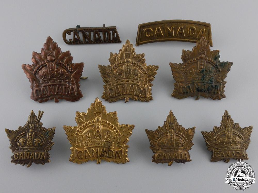Nine First World War Canadian General Service BadgesConsignment #28