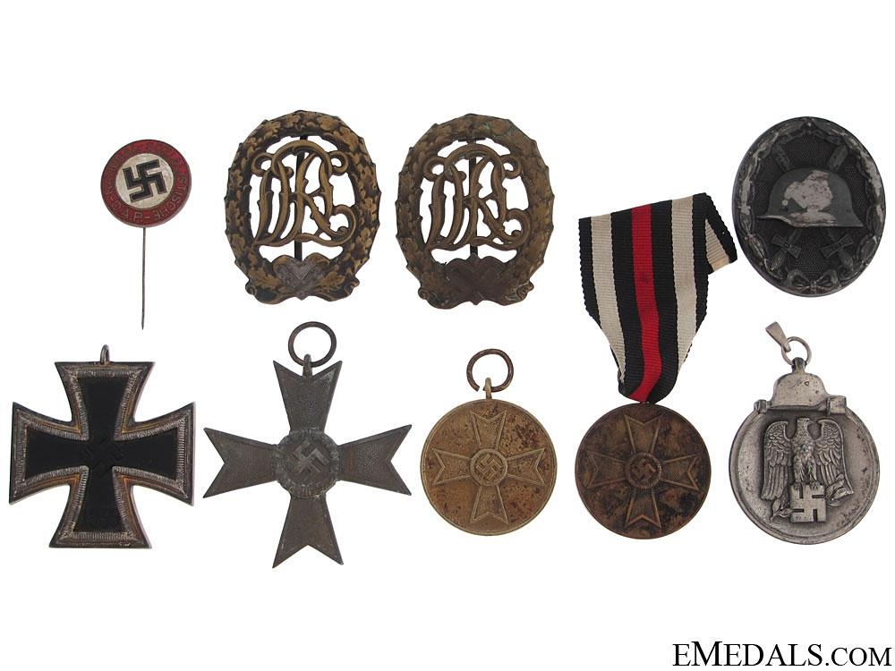 Nine German WWII Awards