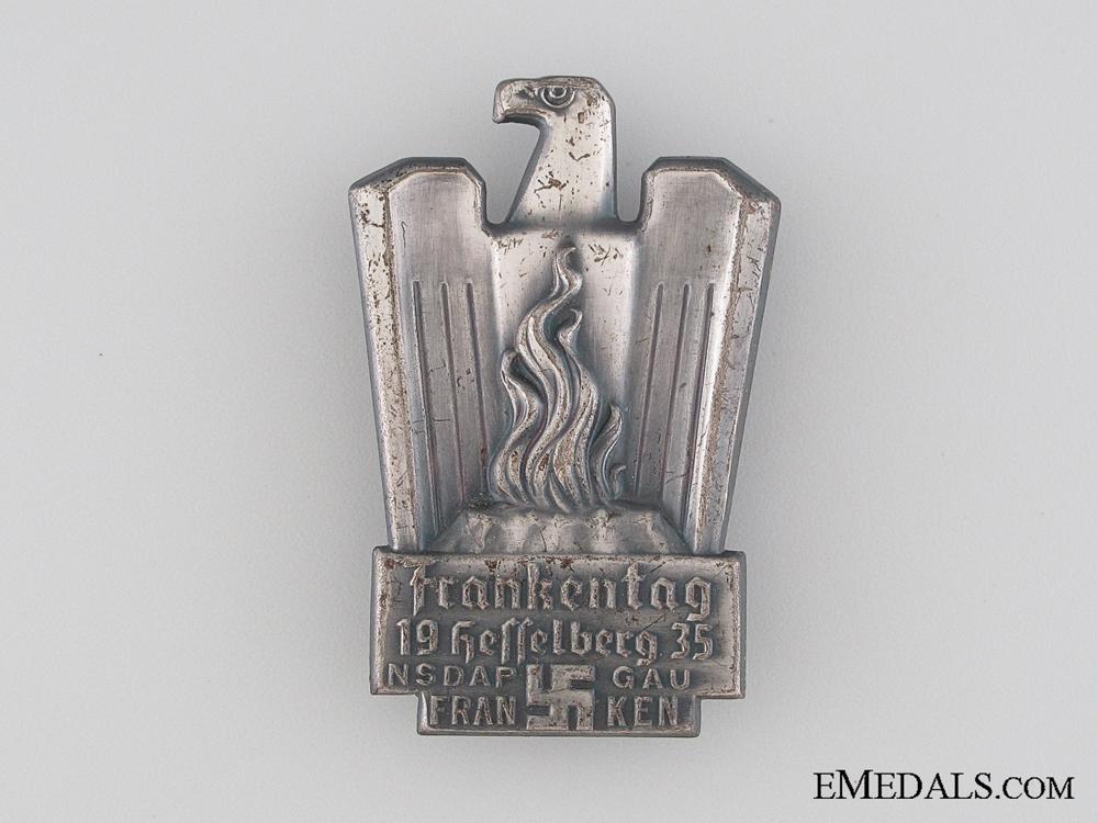 NSDAP Frankentag Hesselberg Gau Franken Tinnie, 1935