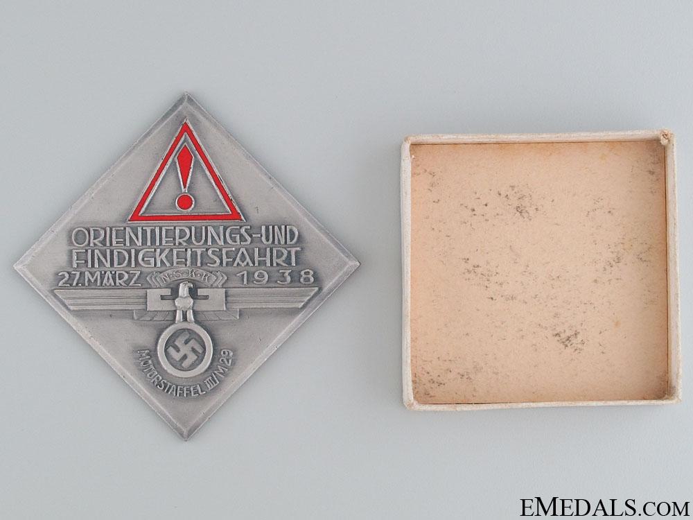 NSKK Automobile Orientation Ride Award 1938