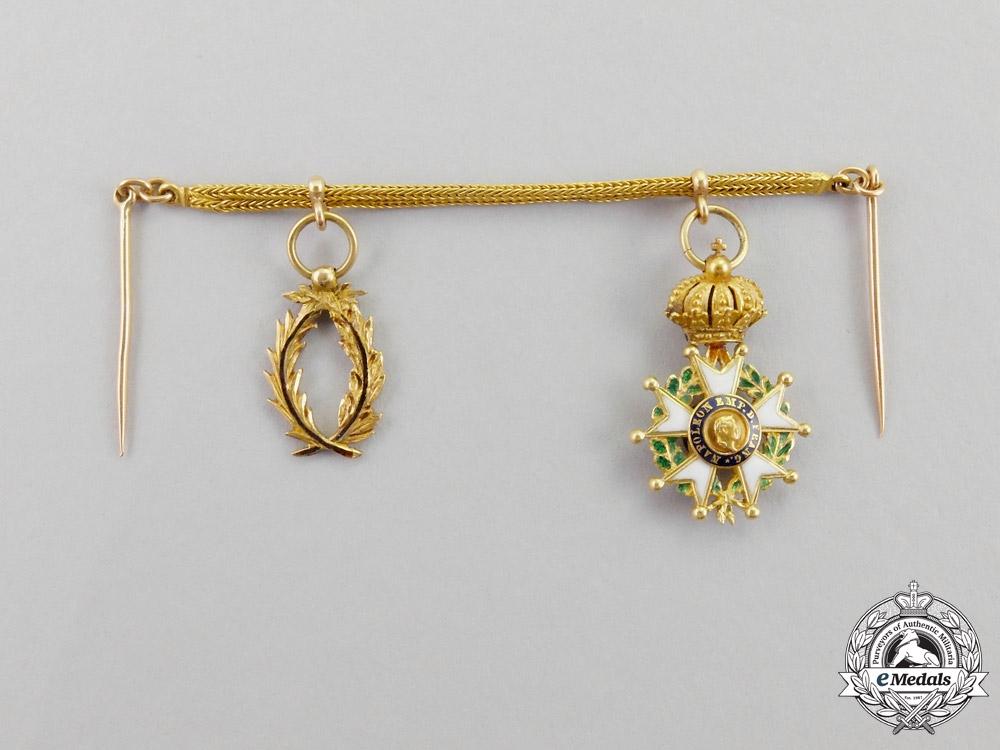 France, III Republic. A Gold Miniature Pair, c.1870
