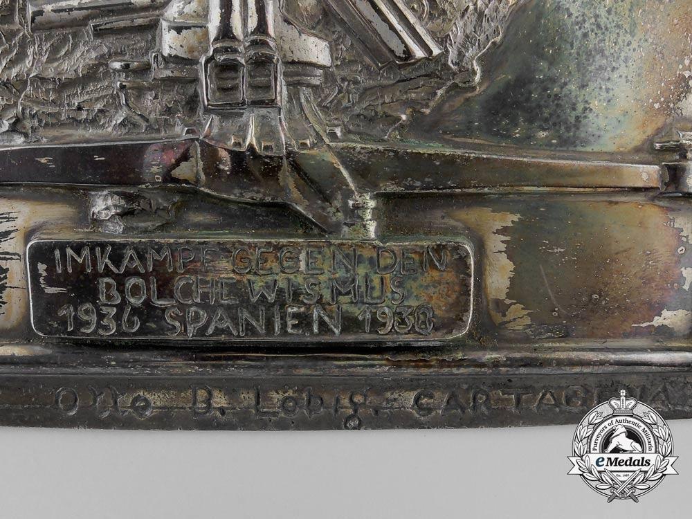 "A Spanish Made Legion Condor Honour Plaque of the Heavy Flak Unit ""F 88"""