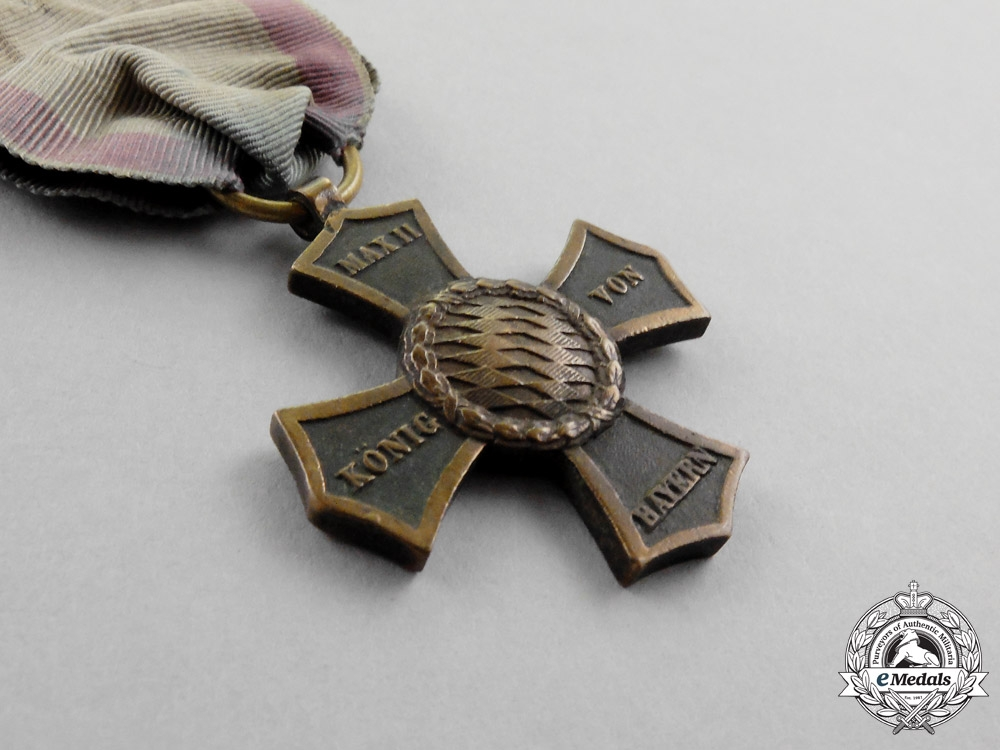 Bavaria. An 1848 Veteran's Cross for Participants of the 1790-1812 Conflicts