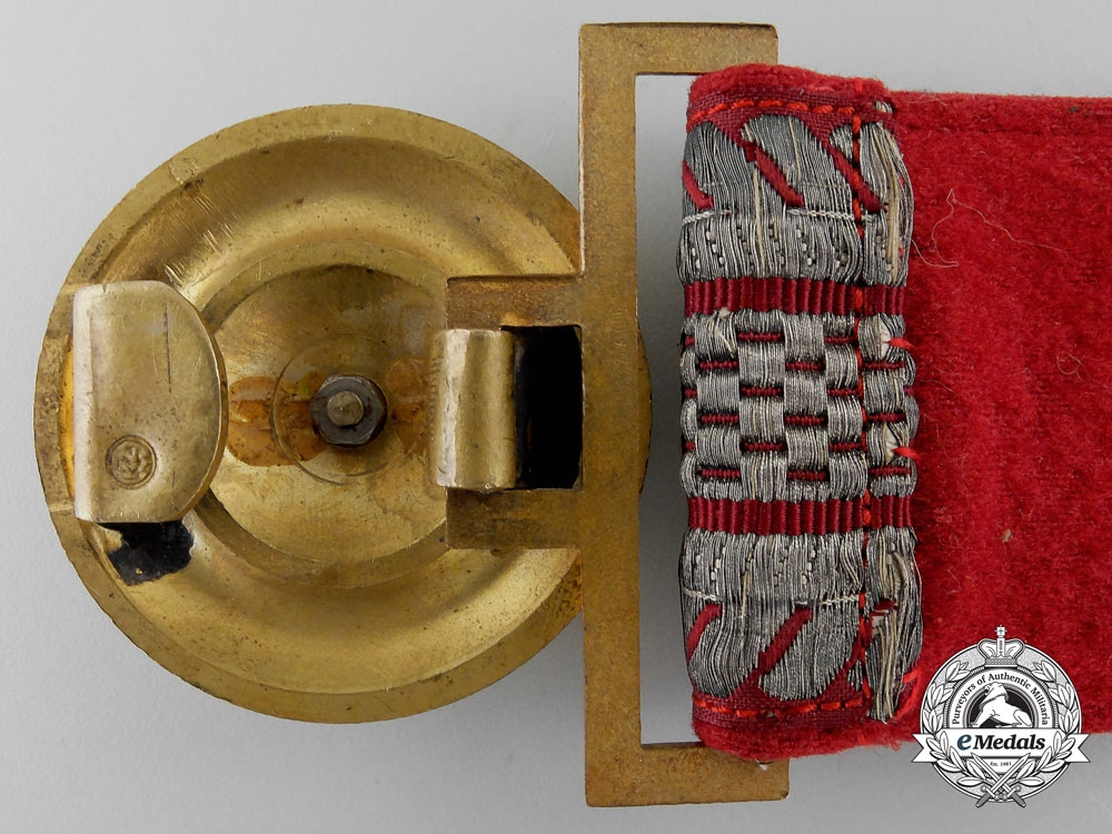 A National Socialist Motor Corps Officer's Belt with Buckle; Published Example
