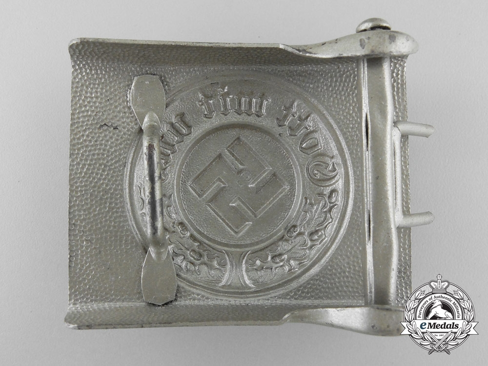 A German Police Enlisted Man's Belt & Buckle by Christian Theodor Dicke; KARLSRUHE