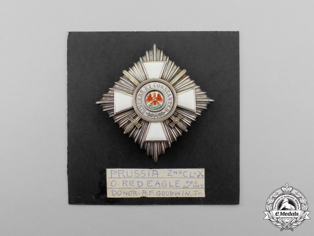 Prussia. An Order of the Red Eagle Second Class with Swords by J. Godet & Sons of Berlin