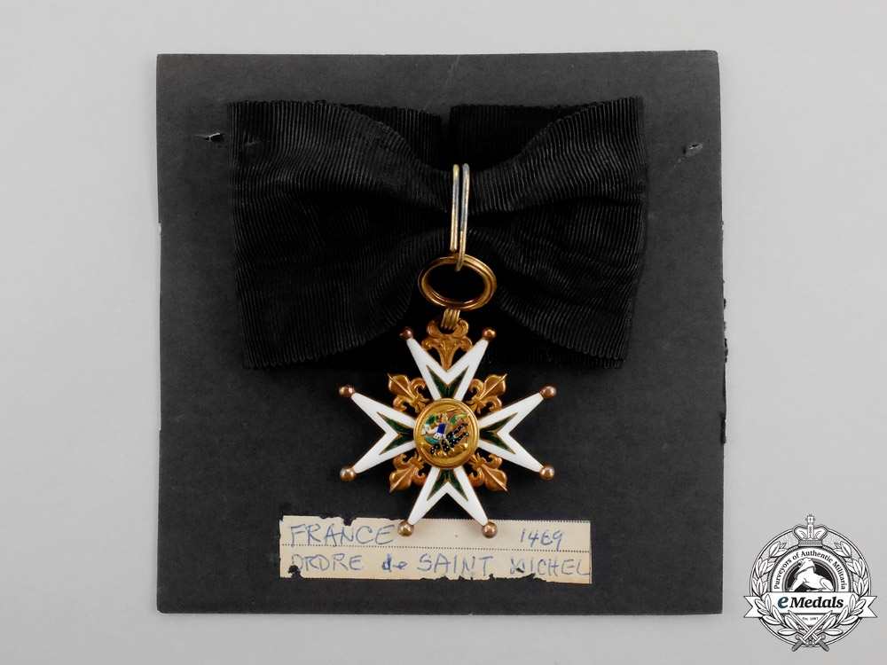 France. A Rare Badge of the Order of St. Michael, Commander's Neck Badge