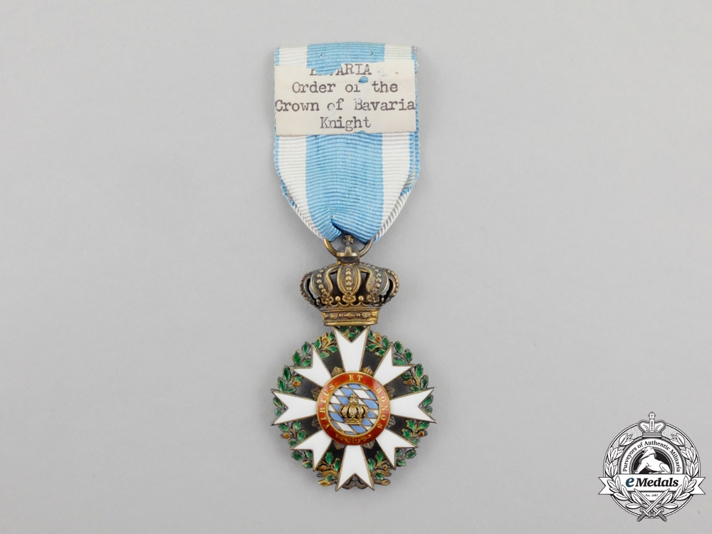 Bavaria. A 1908-1918 Issue Merit Order of the Crown Knight's Cross