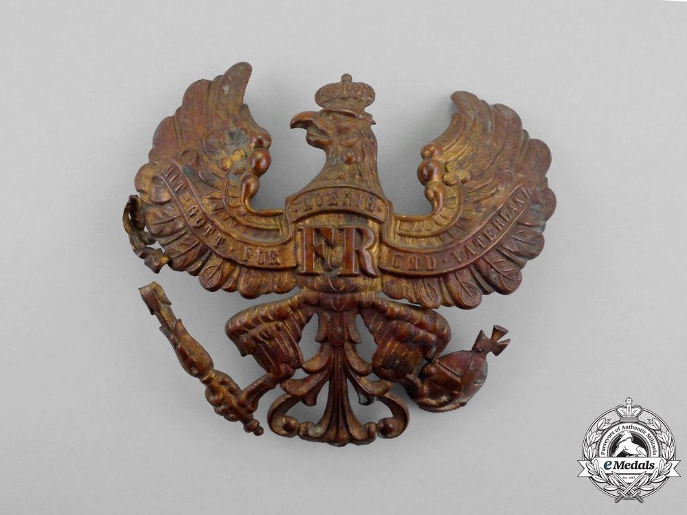 Two Prussian Pickelhaube Plates