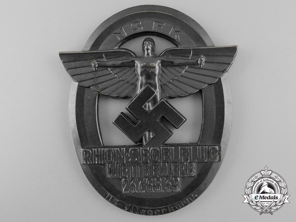 A Large NSFK Rhön Flying Competition Badge by Brehmer