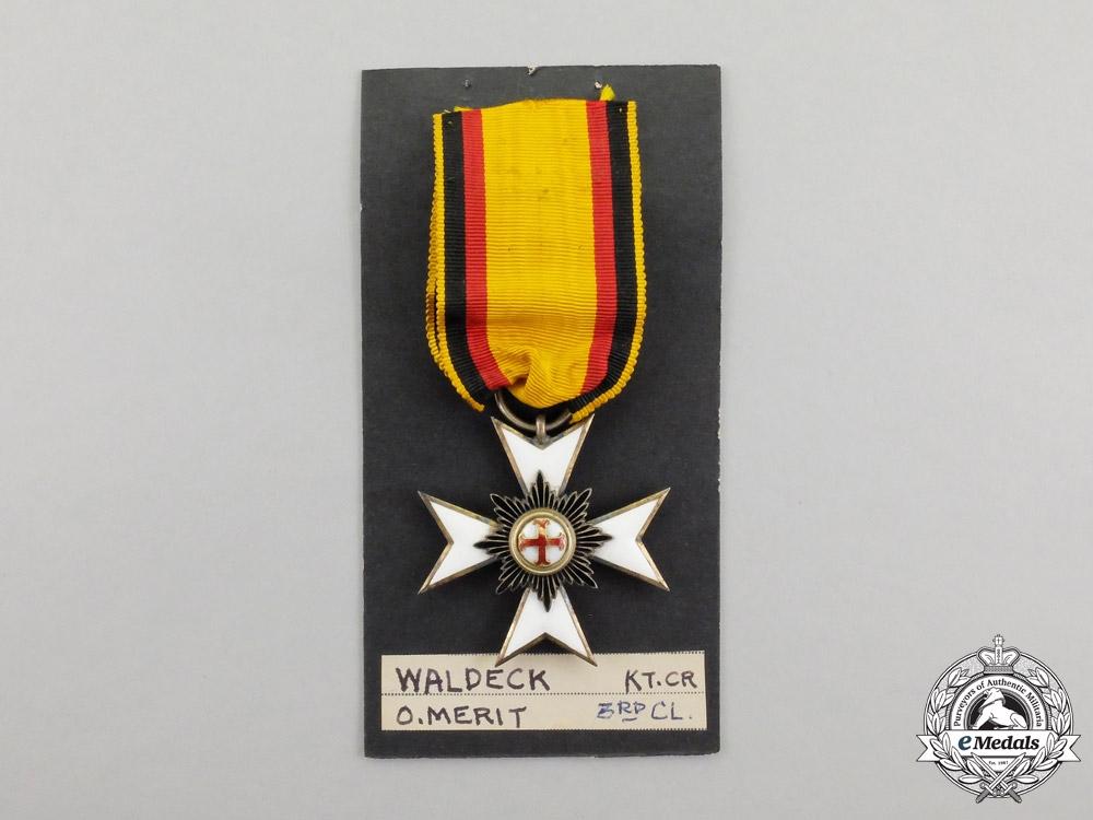 Waldeck. An 1890-1896 Merit Order Cross Third Class