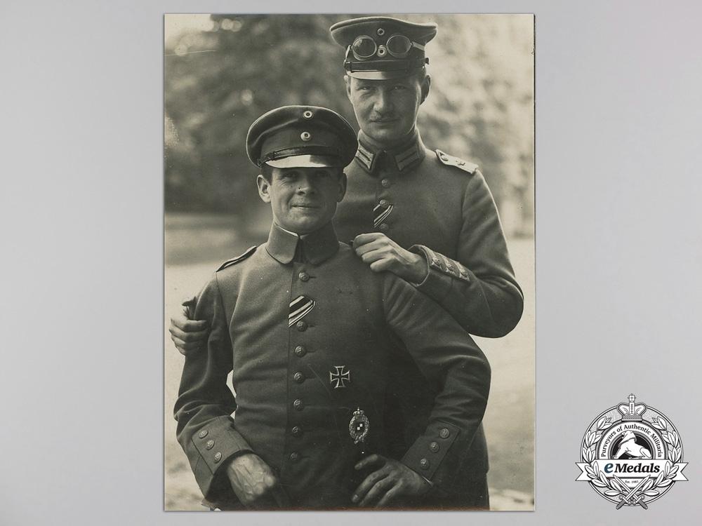A First War Original Bavarian Aircrew Photograph