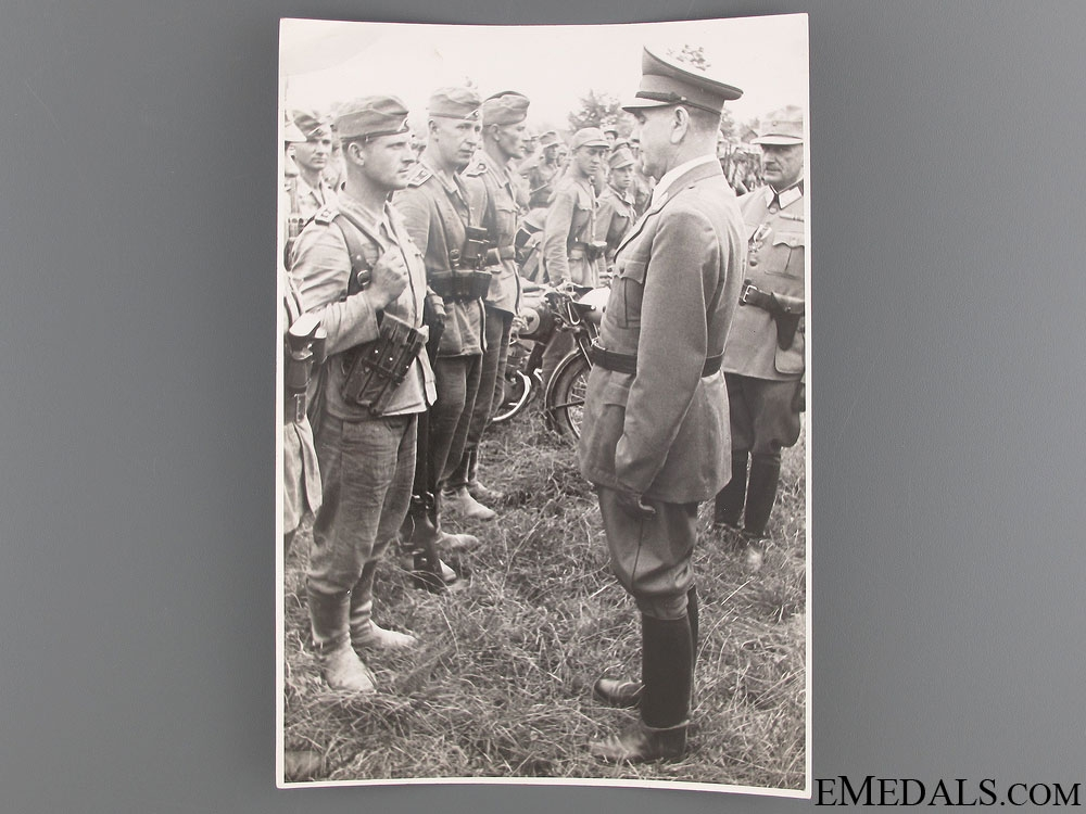 Official Press photo of A. Pavelic Visiting German Troops