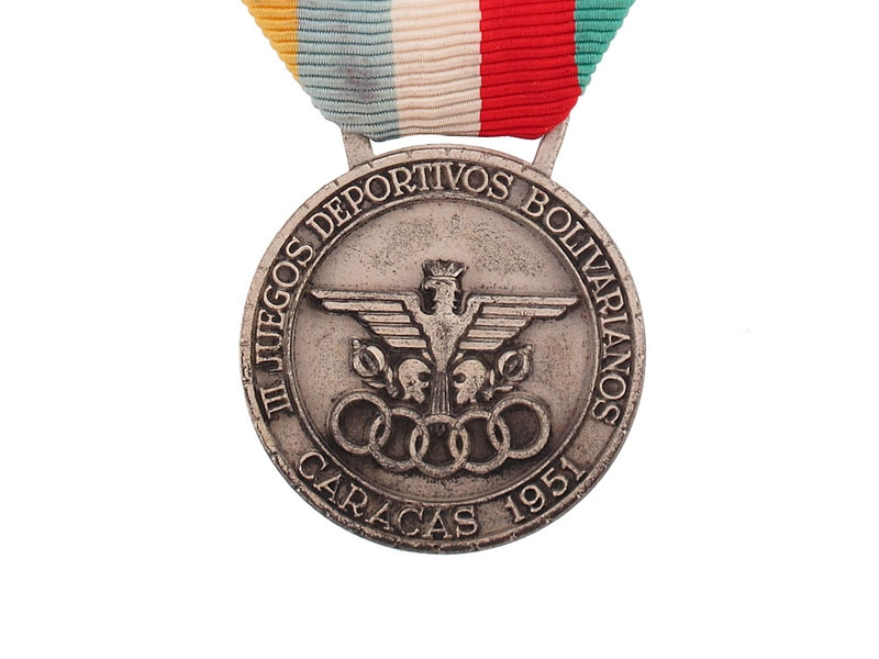 3rd Bolivarian Games Participant's Medal, Caracas 1951