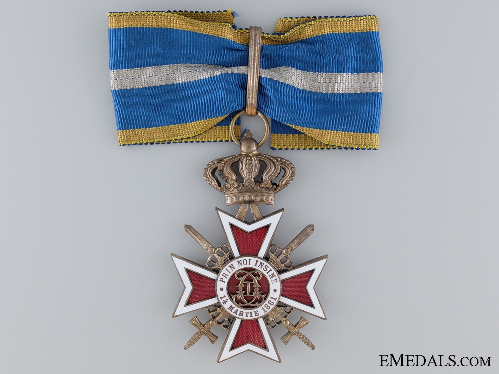 Order of the Romanian Crown with Swords; Commander's Neck Badge, Type II