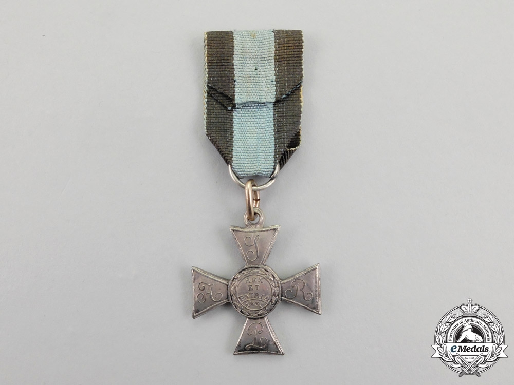 Poland. An Order of Military Virtue, 5th Class Silver Cross, Type IV (1832-1918)