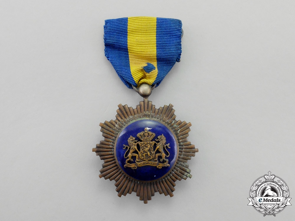Netherlands. A Civilian Star for Loyalty and Merit, Bronze Star