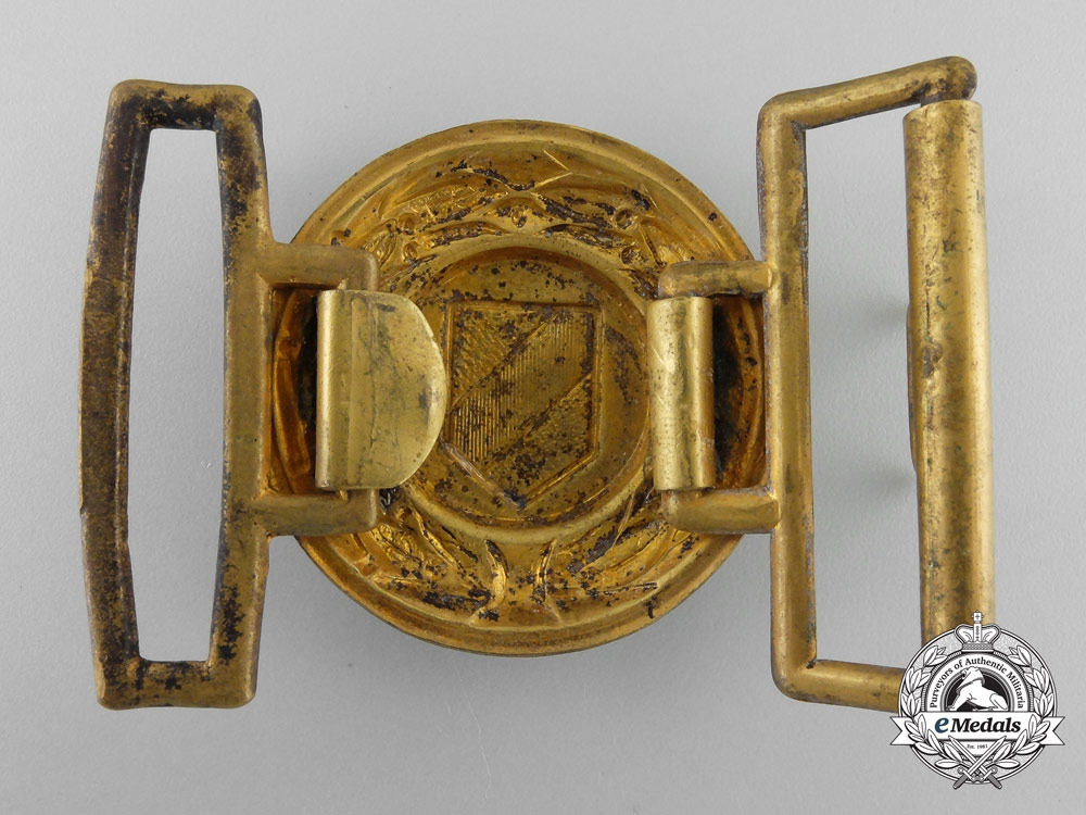 A Baden Fire Defence Service Officer's Belt Buckle; Published Example