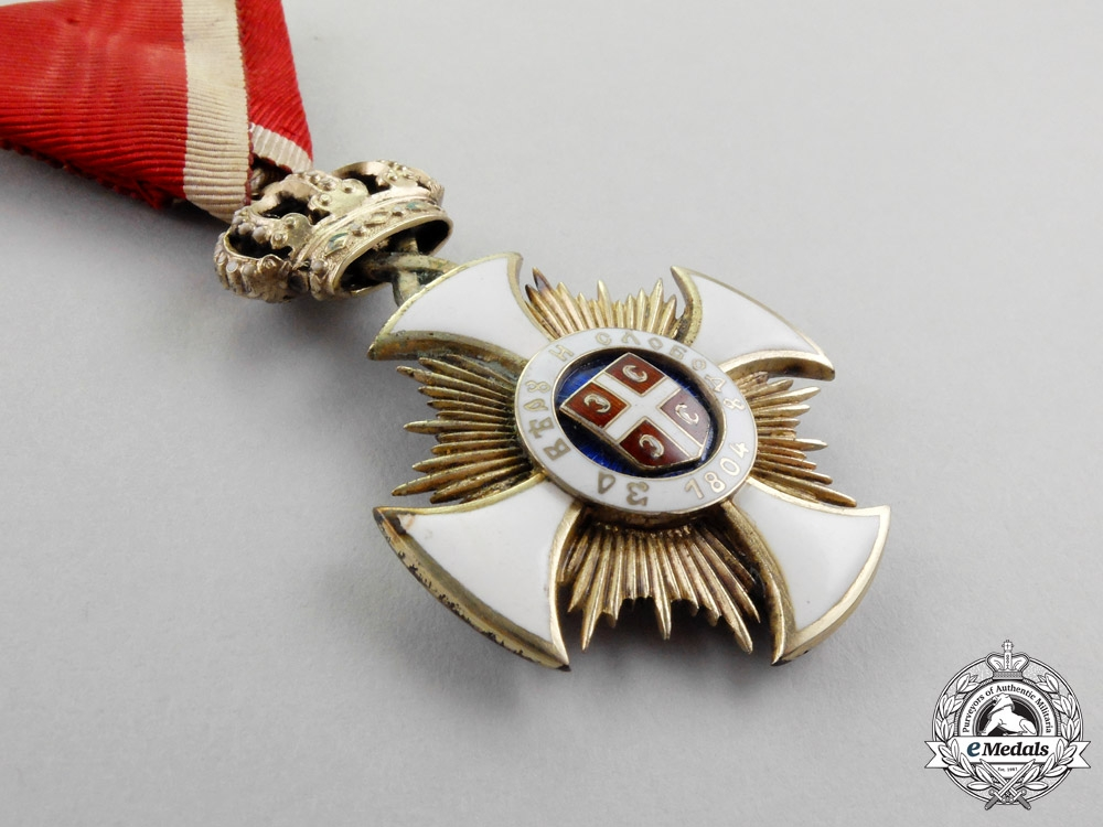 Serbia. An Order of the Star of Karageorge, 4th Class, Officer