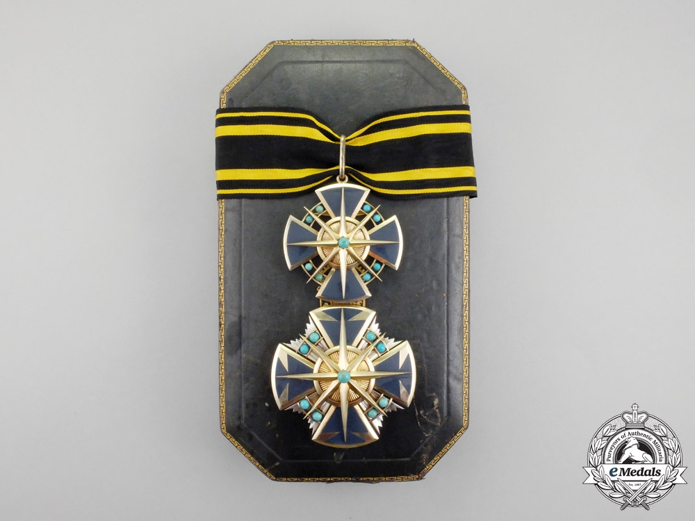 Hesse-Darmstadt. A Superb Cased 1914-1918 Issue Grand Commander's Cross and Breast Star
