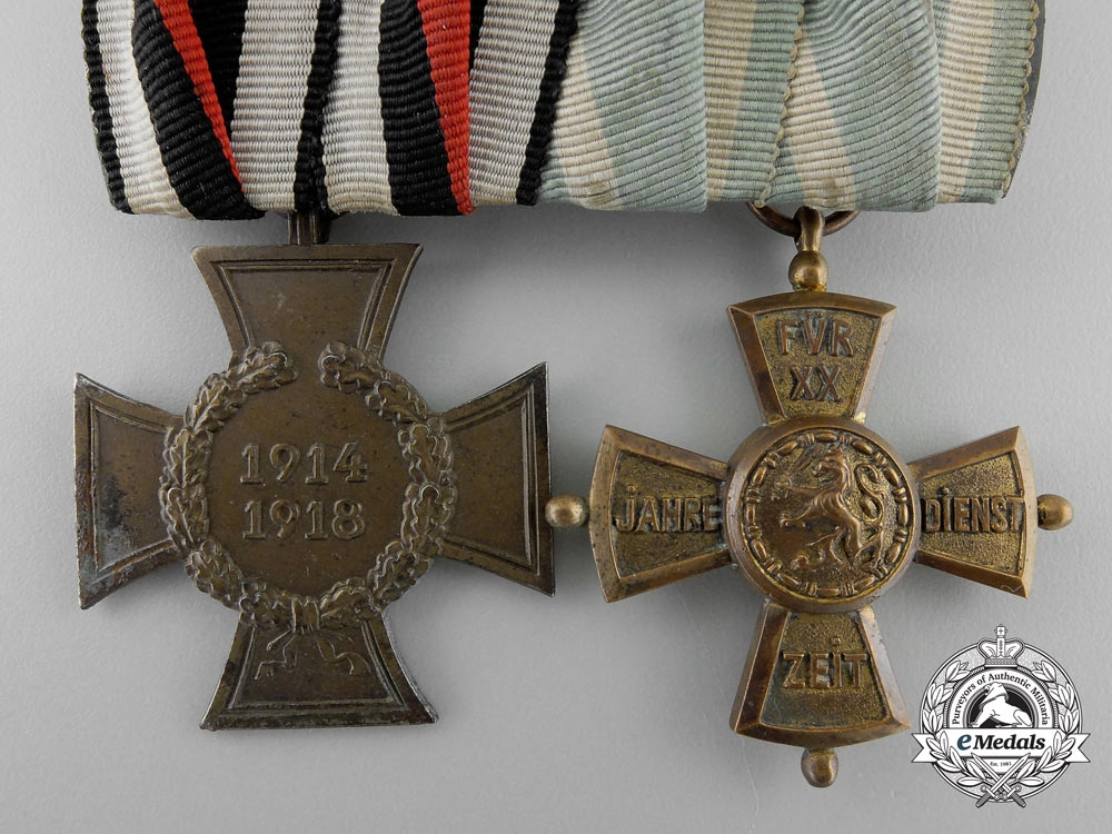 Germany, Imperial. A First War Medal Pair