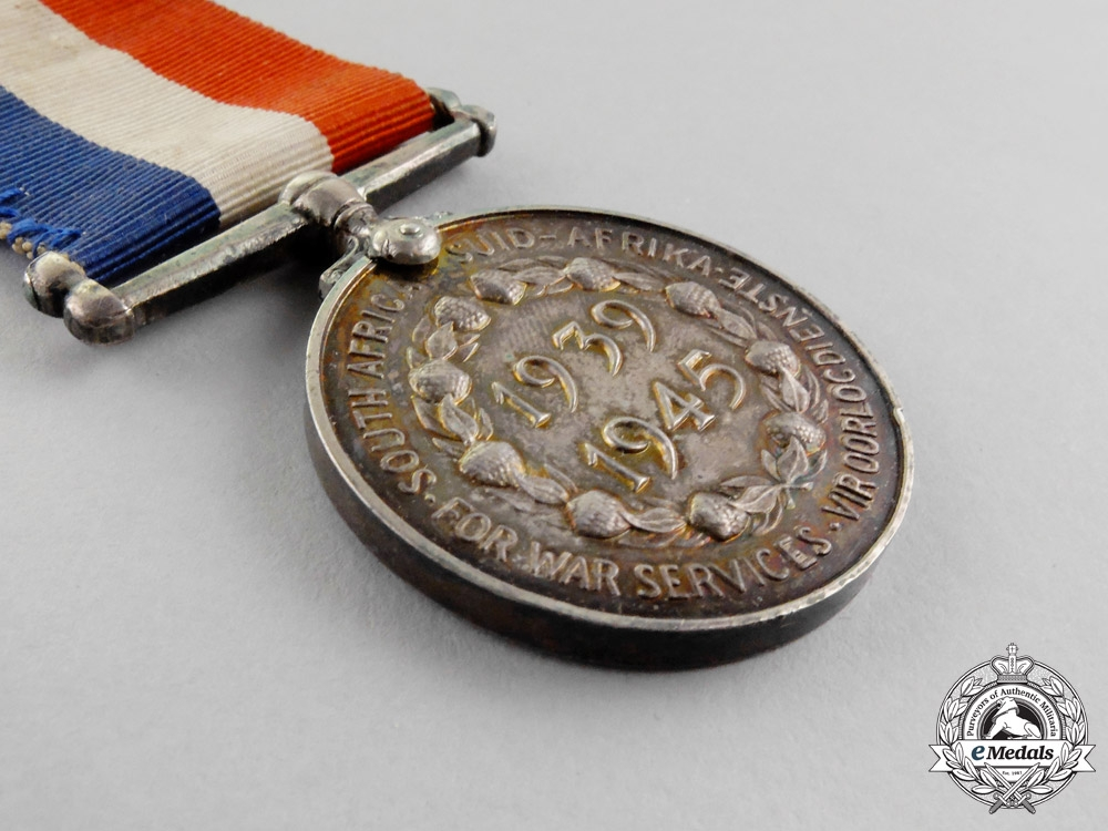 South Africa. A Second War Medal for War Services 1939-1945