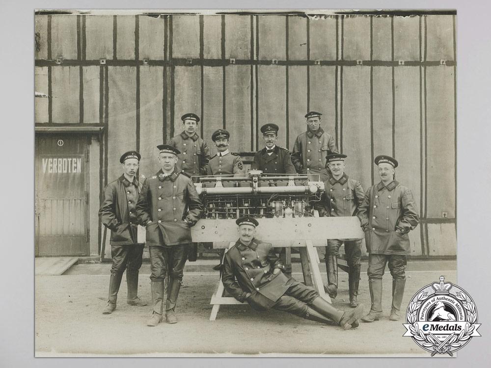 A Rare First War German Imperial Naval Airship Crew Photograph