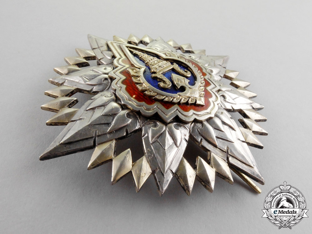 Thailand, Kingdom. A Most Noble Order of the Crown, II Class Star, c.1950