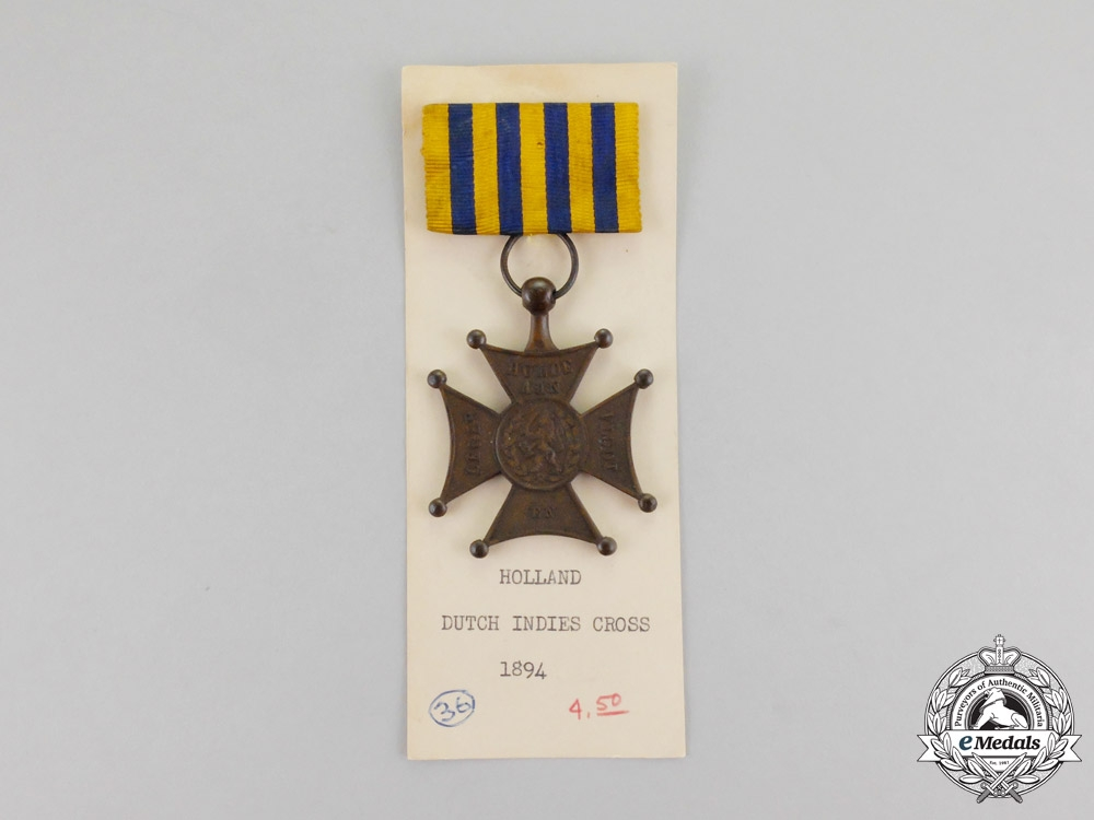 Netherlands. An 1894 Lombok Cross