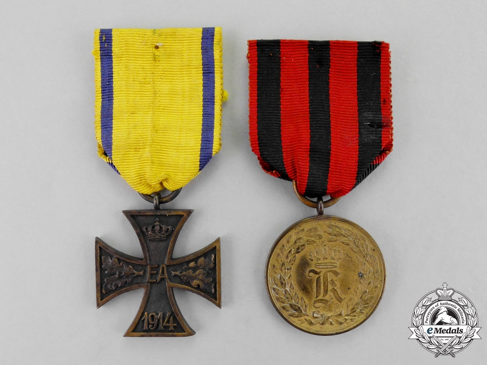Germany. Two Imperial Medals and Decorations