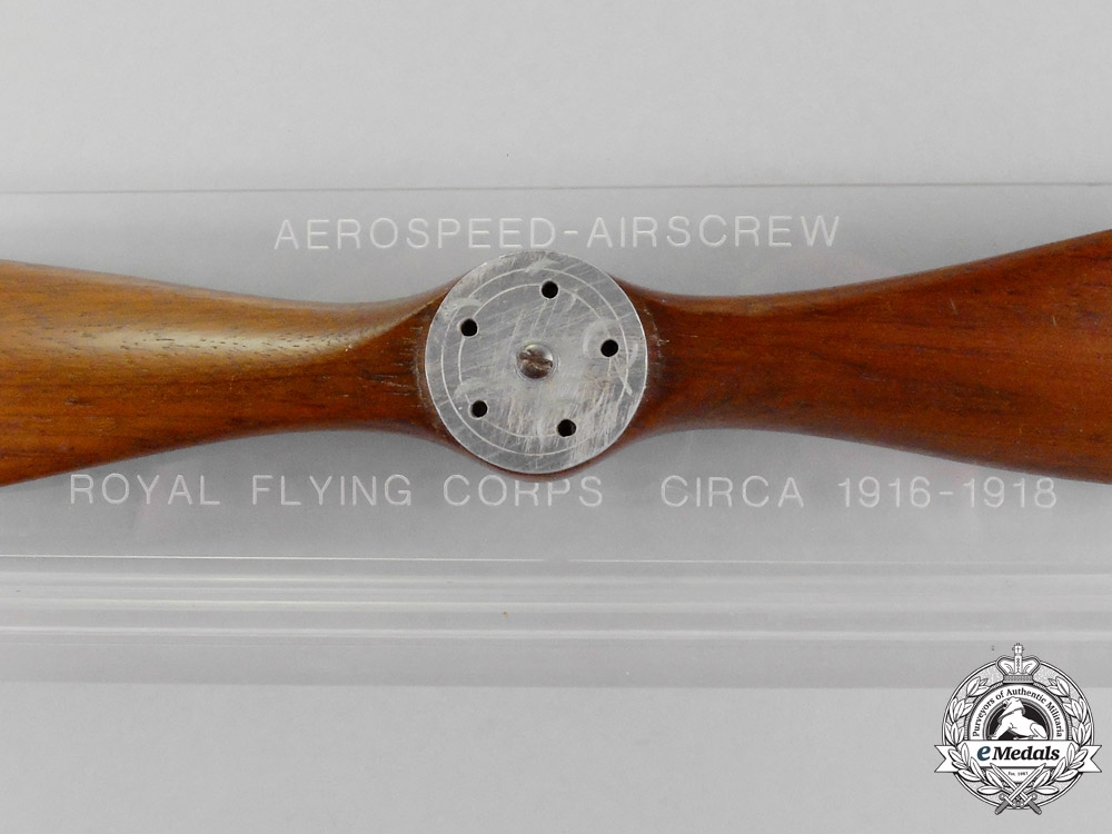 A First War British Royal Flying Core Scale Airplane Propellor Desk Ornament