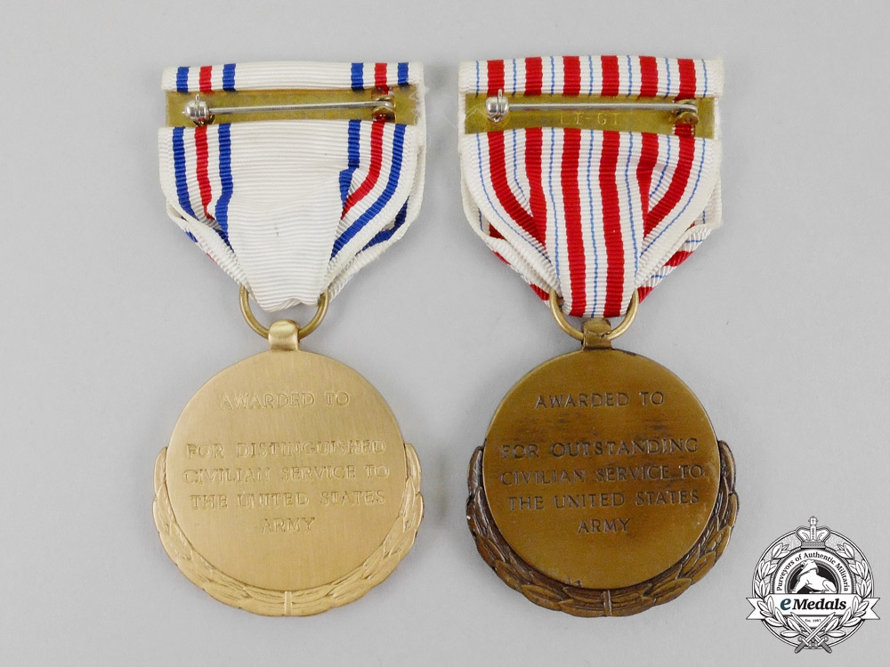 Two United States Army Public (Civilian) Service Awards