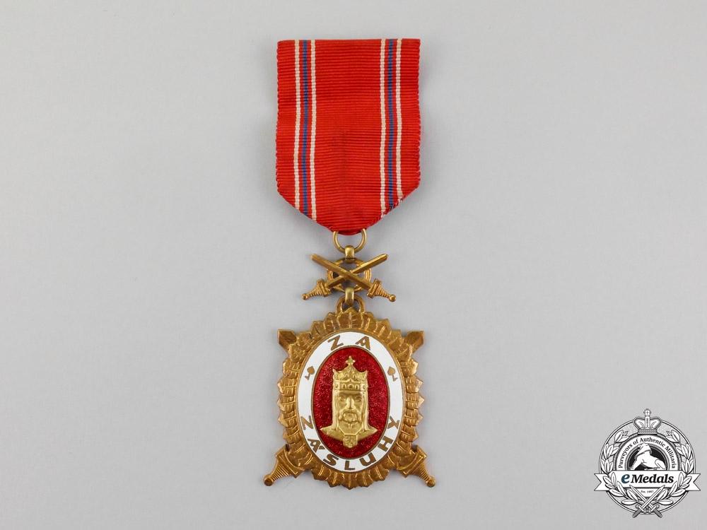 Czechoslovakia. An Order of Charles IV, 3rd Class, Type II (1945-1948)
