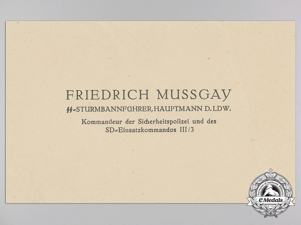 four german military business cards mussgay joachim basler raddau other german. Black Bedroom Furniture Sets. Home Design Ideas