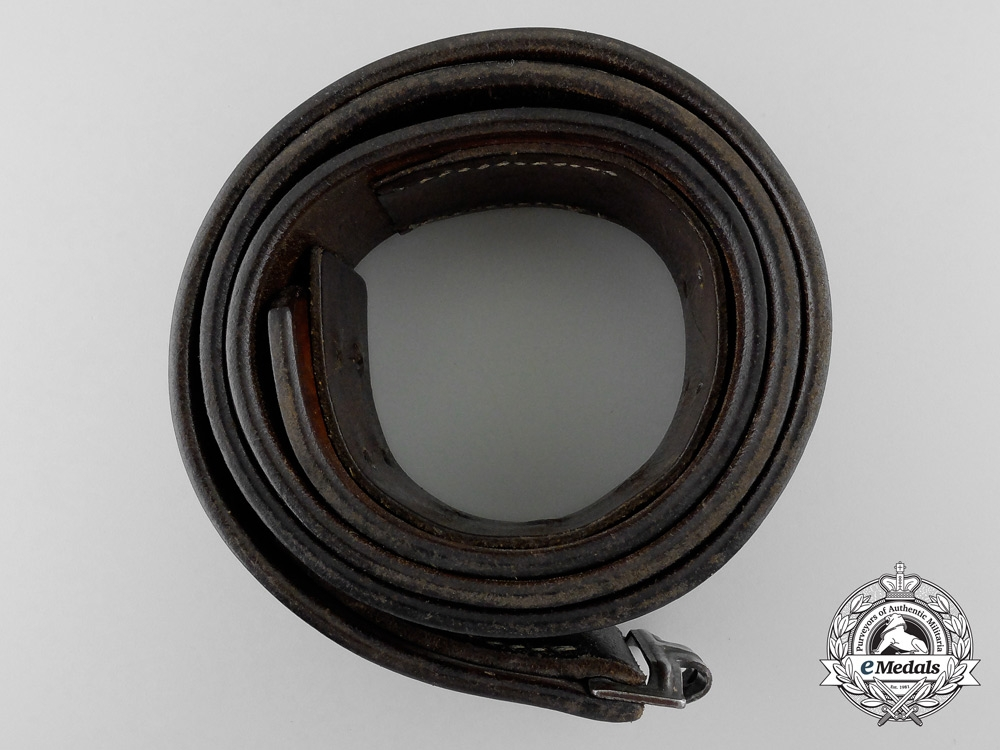 An Black Leather RLM Belt by Franz Brehme, Walsrode