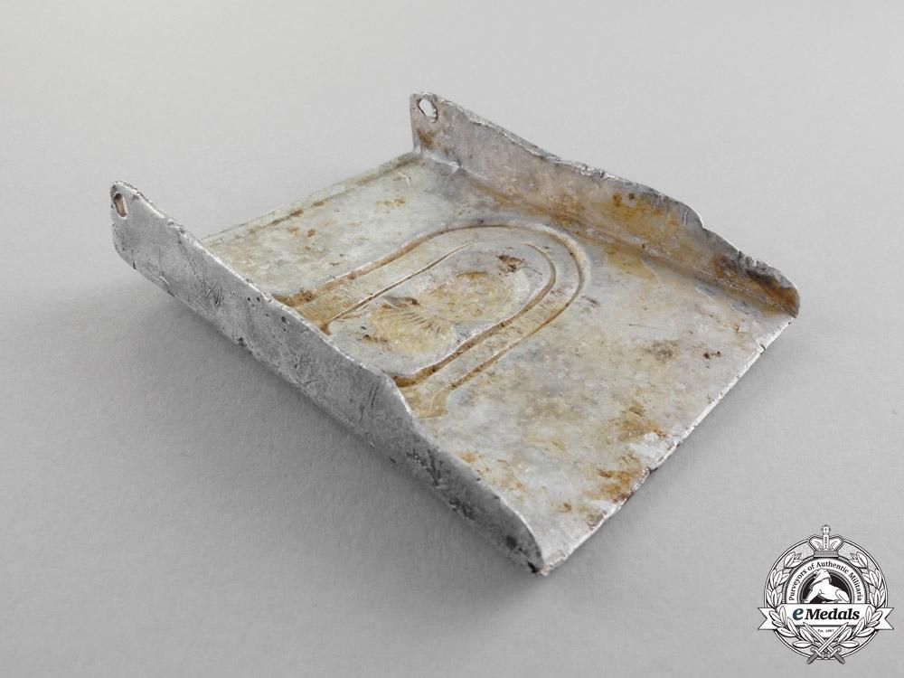 Croatia. A Ground-Found Ustasha Enlisted Man's/NCO's Belt Buckle