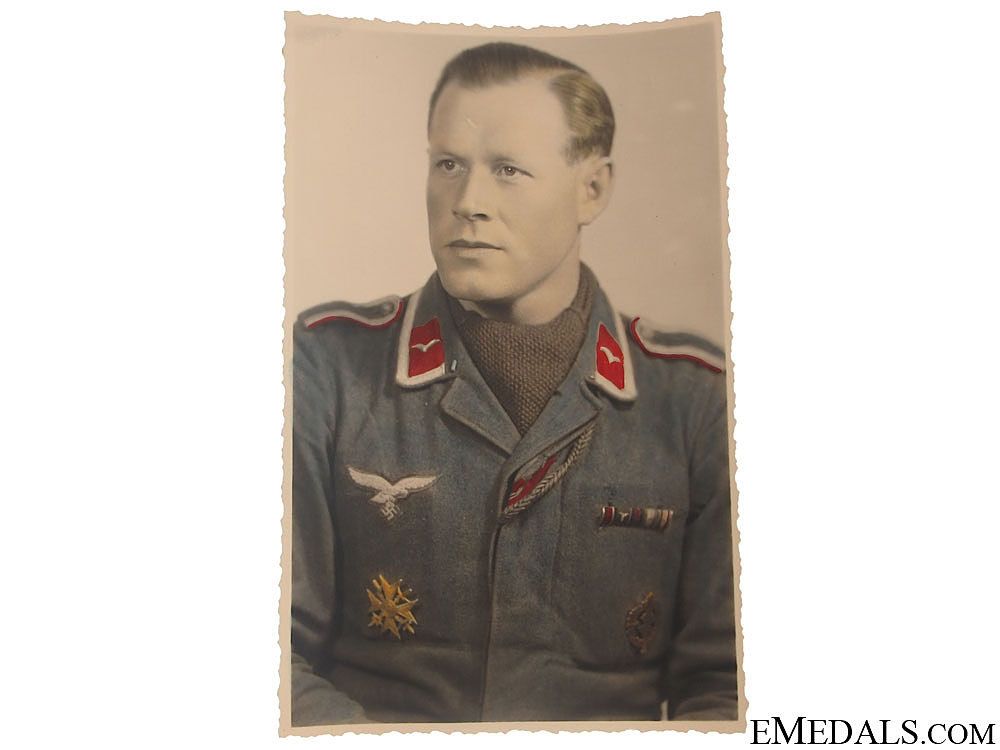 Period Colour Photo of Spanish Cross Winner