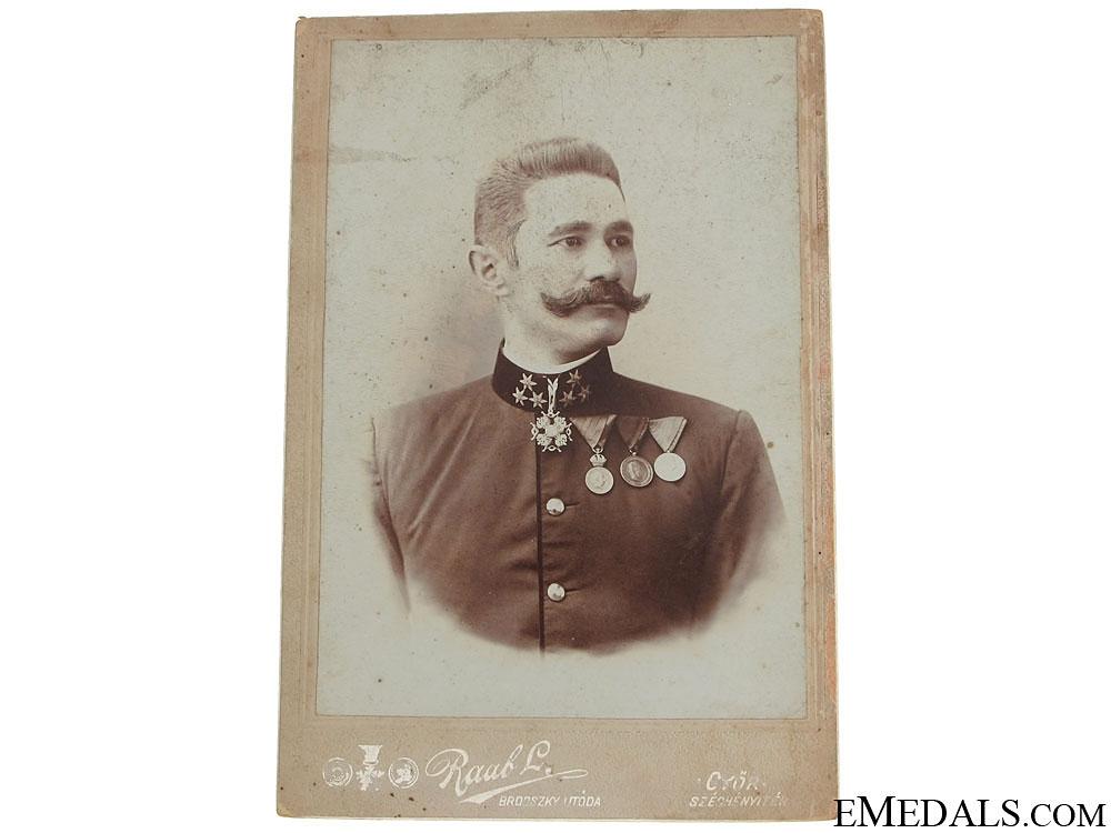 Photo of Austrian Officer wearing St. Stanislaus