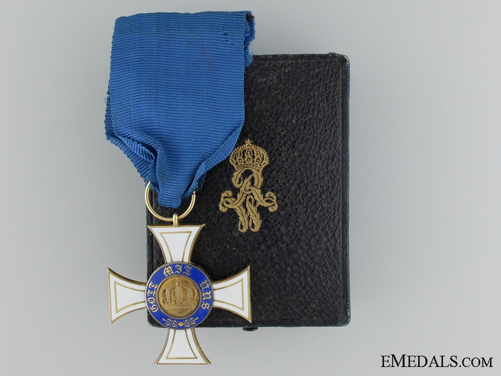 A Gold Prussian Crown Order 1867-1918; Third Class