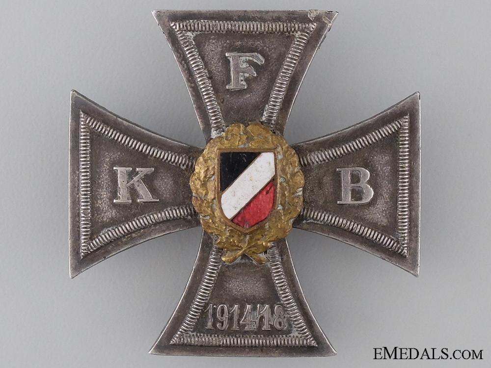 Prussian War Veteran Organization Honour Cross; First Class
