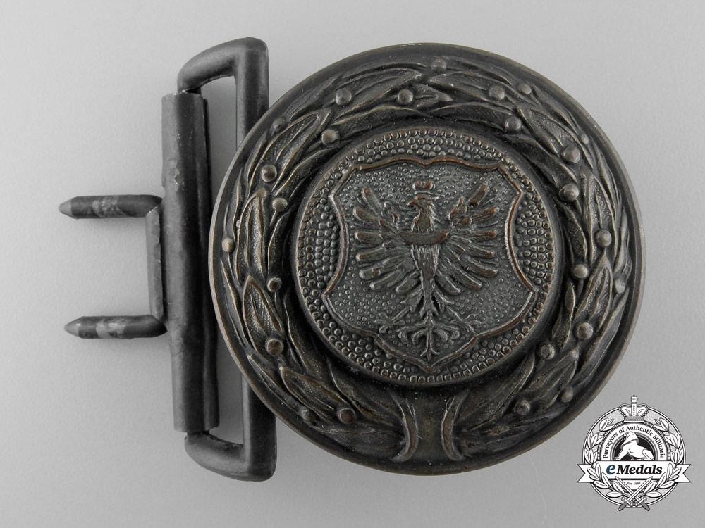A Lower Silesia (Nieder-Schleisen) Fire Defence Service Officer's Belt Buckle