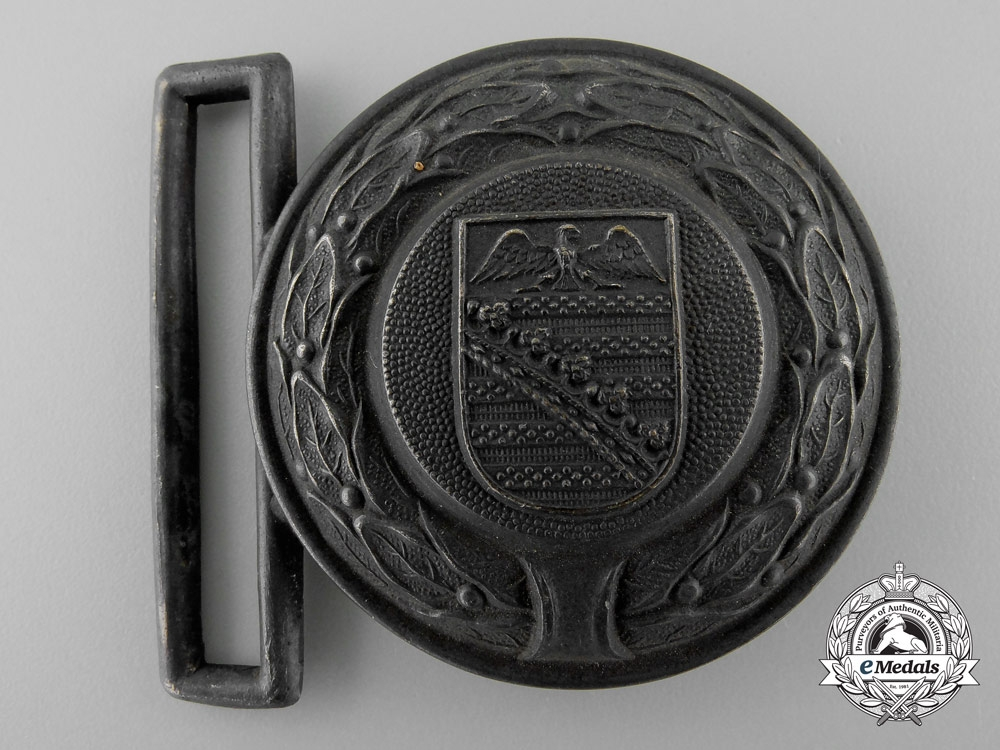 Germany, Third Reich. A Saxony Fire Defence Service Officer's Belt Buckle; Published Example