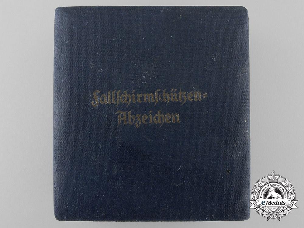 A Case for Luftwaffe Fallschirmjäger Badge