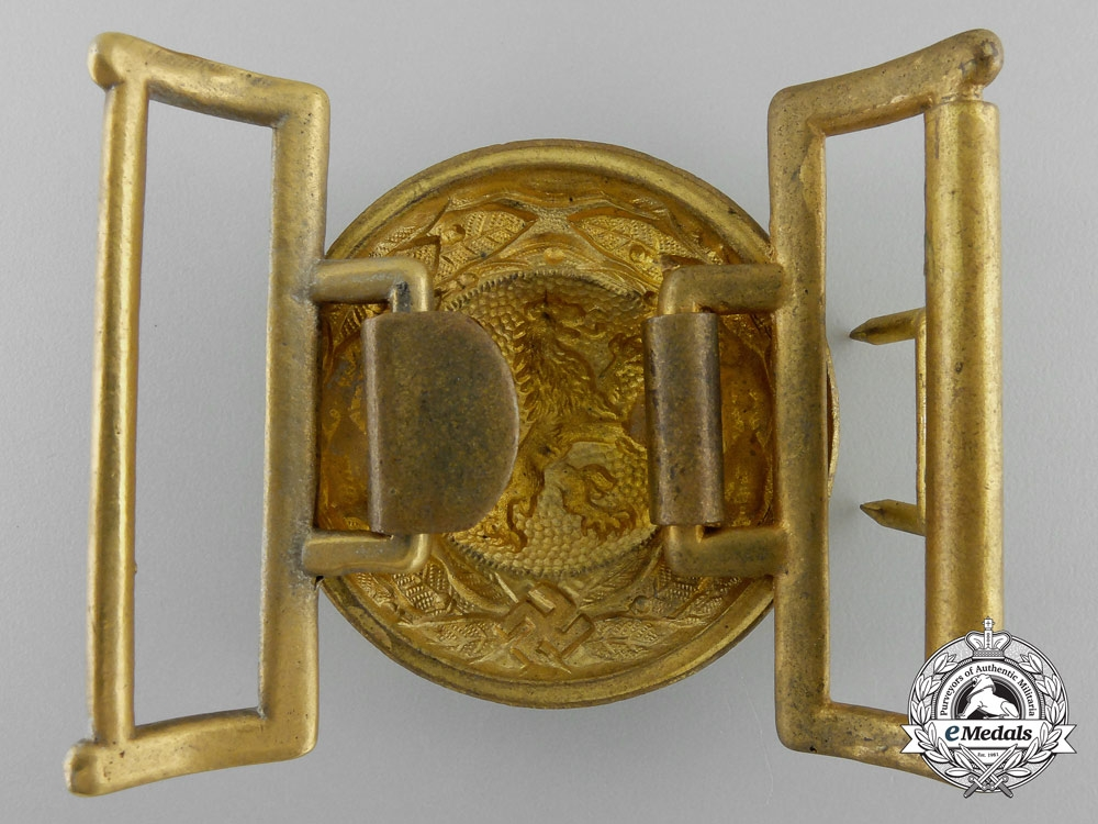 A Third Reich Bavarian State Forestry Service Officer's Belt Buckle; Published